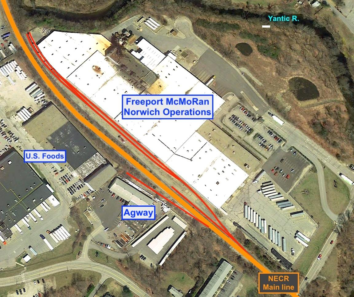 aerial view of Freeport McMoRan Norwich Operations