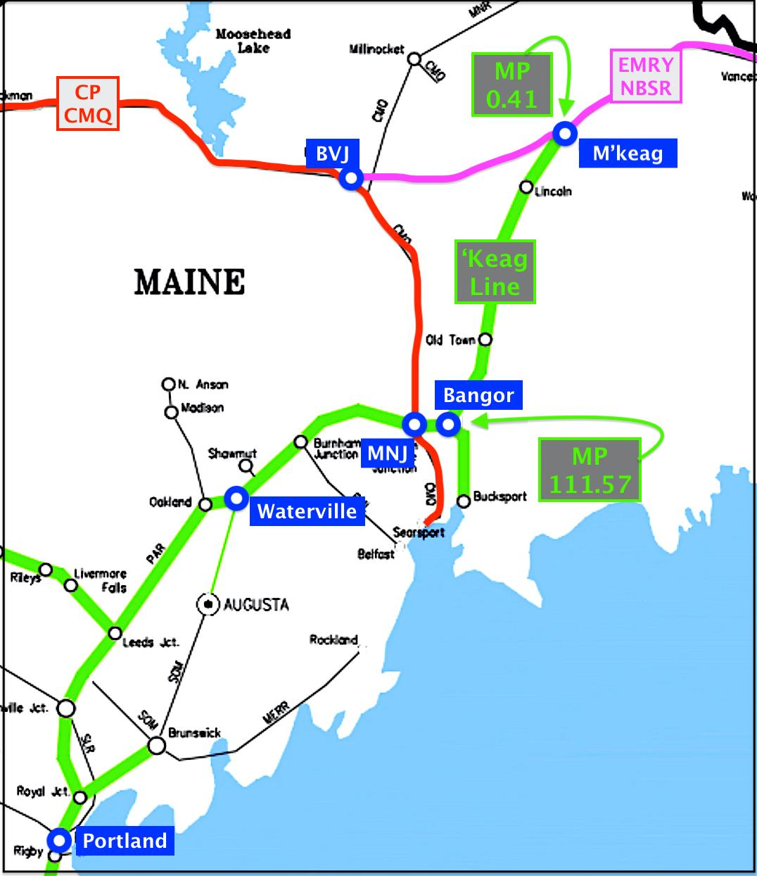 Map of southern Maine