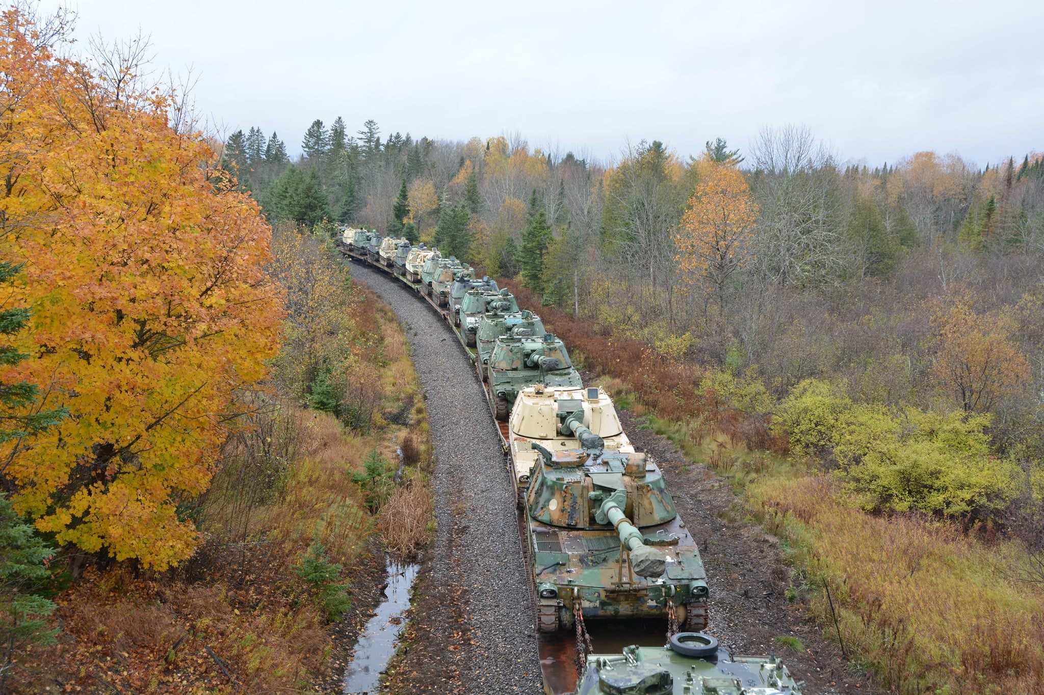 No Tanks; Northeast Railroads Move Refurbished Mobile Howitzers