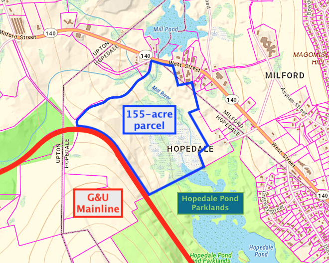 GU: Petitions STB for Preemption Declaration on Hopedale Parcel