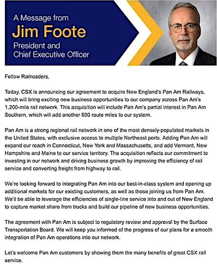 Foote letter to public