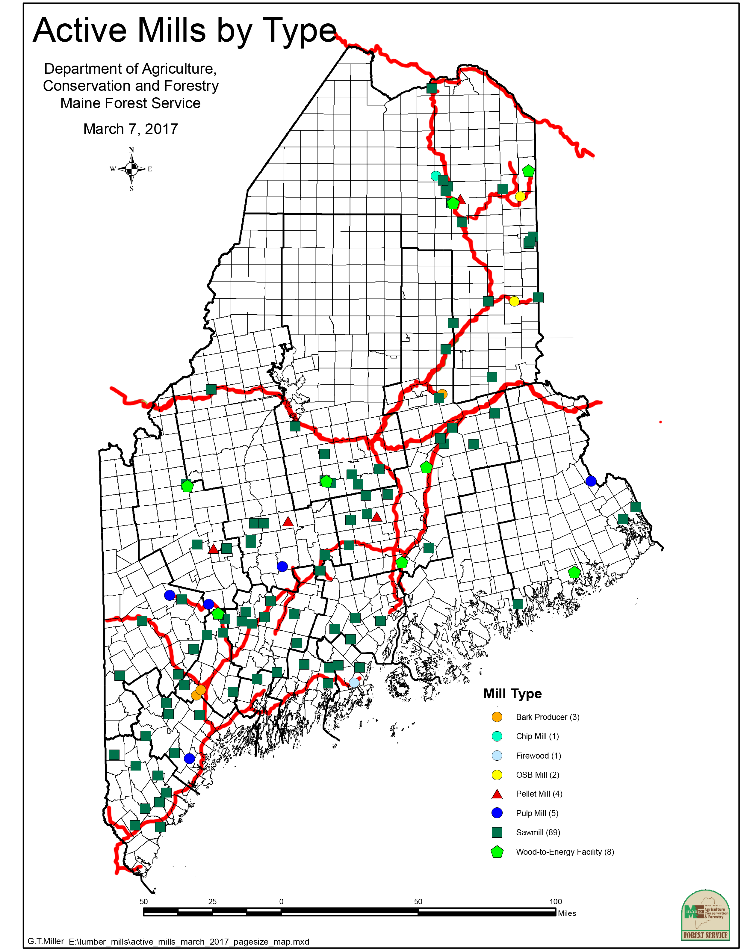 Maine-forest-products mills-and-rails