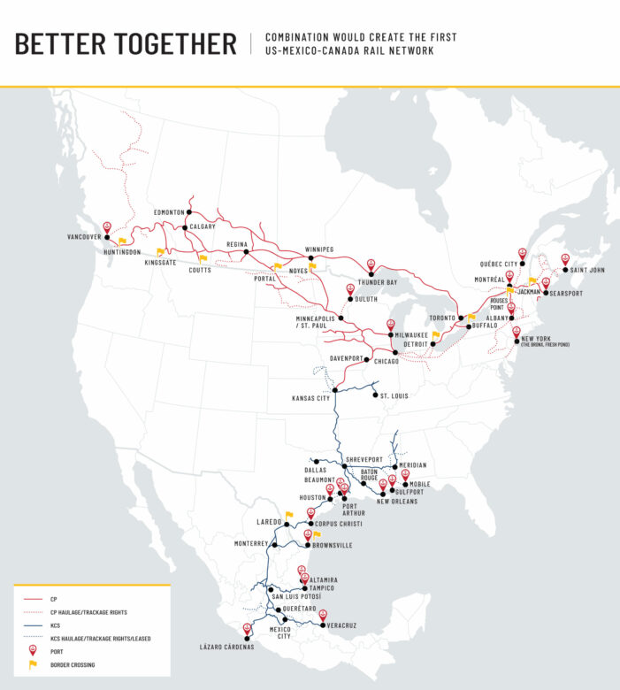 CP: VRS, G&W Join Shippers and Railroads to Support KCS Merger